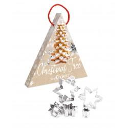 """Kit d'emporte-pièces """"flocons"""" pour sapin de Noël en biscuits"""