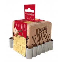 Embosseurs et emporte-pièce pour biscuits de Noël