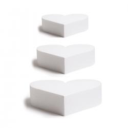 Cake dummy coeur hauteur 7,5 cm - Plusieurs diamètres