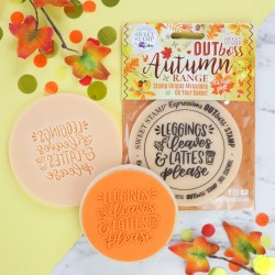 """Outboss pour pâte à sucre """"legging, leaves and lattes"""" Sweet Stamp"""