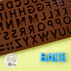 Moule silicone chocolat lettres alphabet Sweet Stamp
