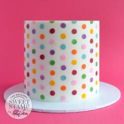 Pochoir deco de gâteau Petits pois Sweet Stamp