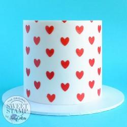 Pochoir deco de gâteau Coeur Sweet Stamp