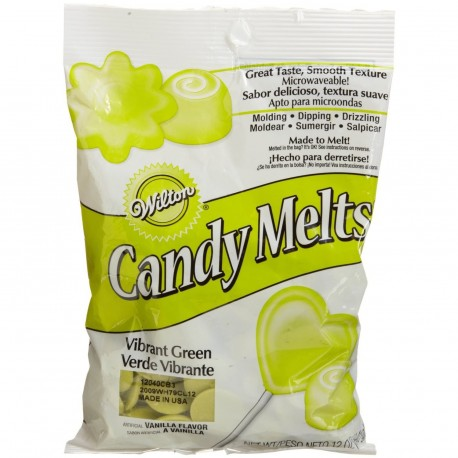 Candy Melts - Pistoles vert clair flippant 280 g
