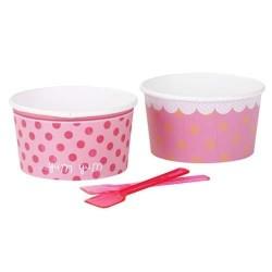 """Pots et cuillères à glace """"Pink"""""""