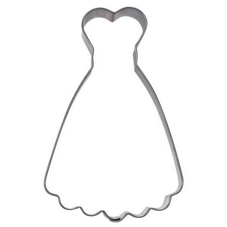 """Emporte-pièce """"Robe de soirée"""" (ou de mariée)"""