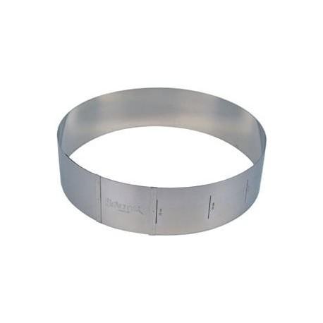 Cercle à pâtisserie ajustable (10cm de hauteur)