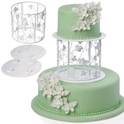 """Support et présentoir pour gâteaux à étages """"feuilles de vigne"""""""