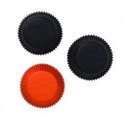75 caissettes standard noir et orange Halloween