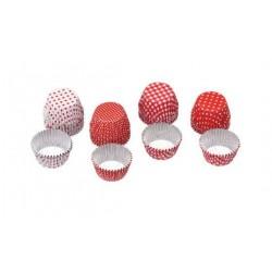 """40 mini caissettes en aluminium pour chocolats """"rouge"""""""