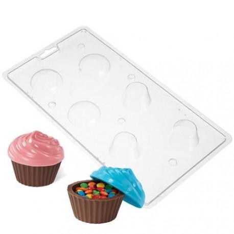 """Moule à chocolats contenant """"cupcake"""""""