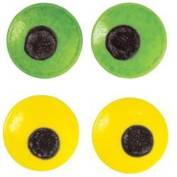 1 lot de grands yeux flippants jaune et vert