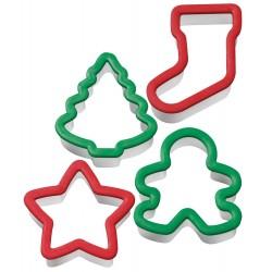 4 emporte-pièces Noël comfort grip