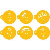 """Pochoirs """"visages de bébés"""""""