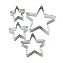 """4 emporte-pièces """"étoile"""""""