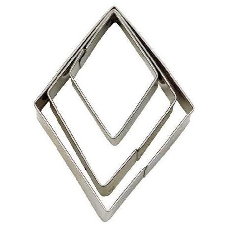 """3 emporte-pièces """"diamants"""""""