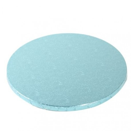 Cake drum rond bleu pastel 25 x 1.2 cm