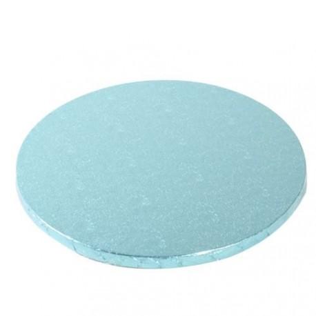 Support à gâteau rond bleu pastel 25cm