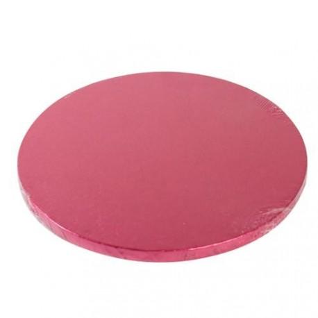 Cake drum rond cerise 25 x 1.2 cm
