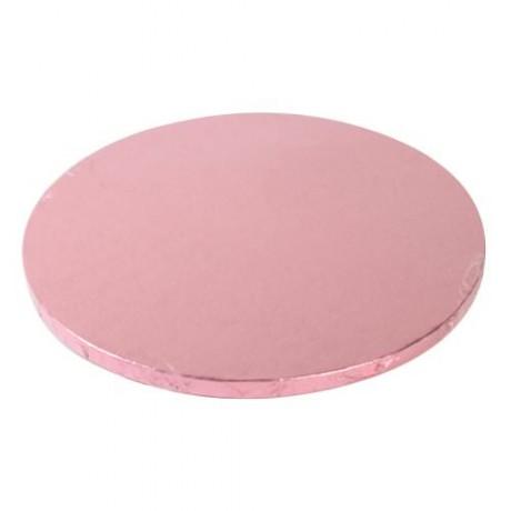 support g teau rond rose 25cm g teaux et p tisseries boites emballages pr sentoirs. Black Bedroom Furniture Sets. Home Design Ideas