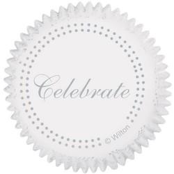 """75 caissettes argent """"célébration"""""""
