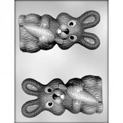 """Moule à chocolats 3D """"lapin et sa carotte"""" - 15 cm"""