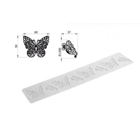 """Tapis Tricot Decor """"papillons"""" 40x8cm"""