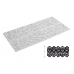 "Tapis Tricot Decor ""dentelle"" 40 x 20 cm"