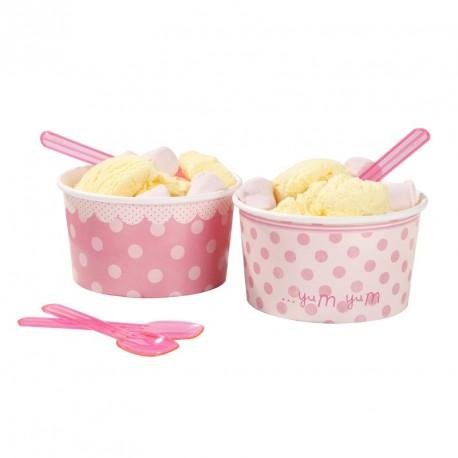 """Pots et cuillères à glace """"Pink 2"""""""