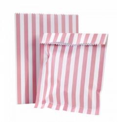 """12 sacs à bonbons et 12 étiquettes """"Pink"""""""