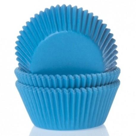 50 caissettes bleu cyan