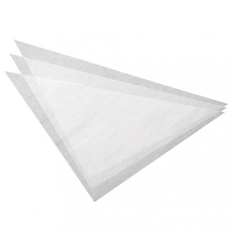 100 triangles de papier parchemin - 37,5cm