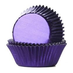 24 caissettes en aluminium violet