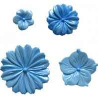 """Moule en silicone pour gumpaste et pâte à sucre """"fleurs"""""""