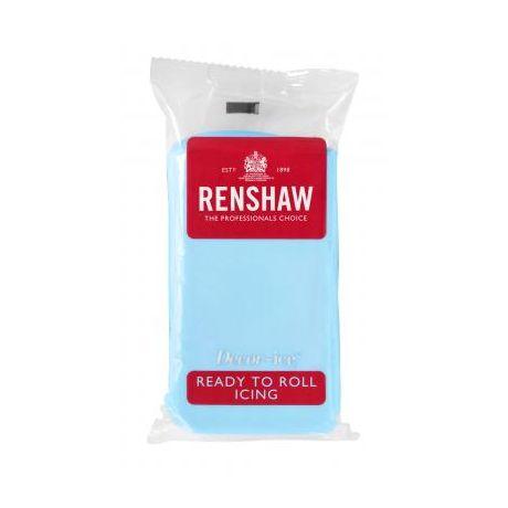 Pâte à sucre 250g Renshaw bleu clair