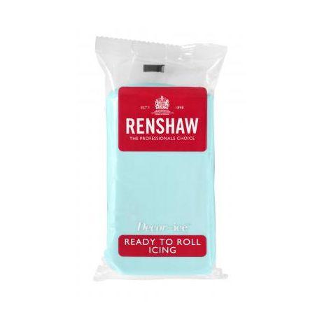 Pâte à sucre 250g Renshaw bleu lagon