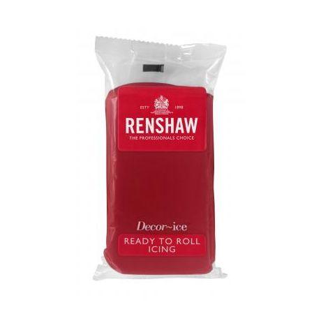 Pâte à sucre 250g Renshaw rouge ruby