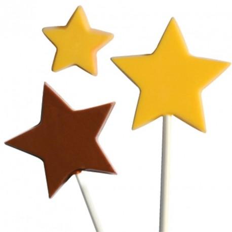 """Moule à sucettes en chocolat """"étoile"""""""