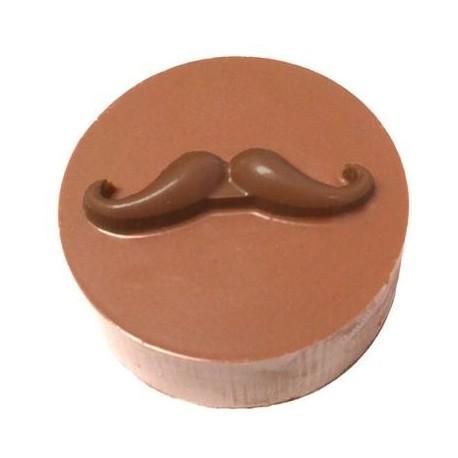 """Moule pour biscuits enrobés """"moustache"""""""