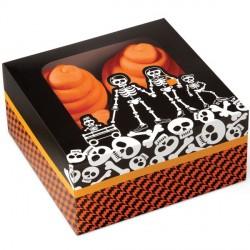 """3 boîtes à cupcakes """"la famille squelette"""""""