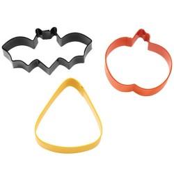 """3 emporte-pièces Halloween """"chauve-souris, jack-O-Lantern, bonbon """""""