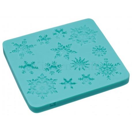 """Moule en silicone """"flocons de neige"""""""