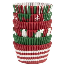 """Assortiment de 150 caissettes à cupcakes standard """"Noël"""""""