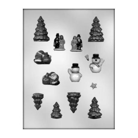 """Moule à chocolats """"Village de Noël"""""""