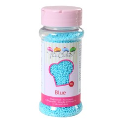 Mini billes en sucre bleu