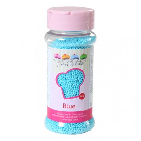 Mini billes en sucre bleu