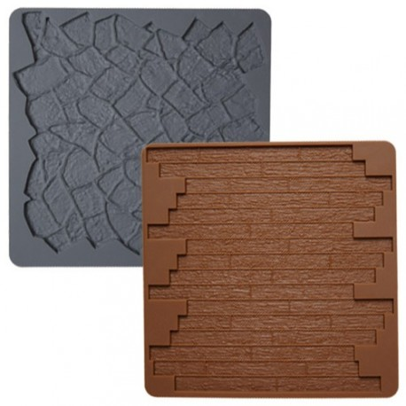 2 tapis texture silicone pierre et parquet wilton. Black Bedroom Furniture Sets. Home Design Ideas