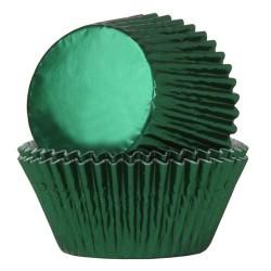 24 caissettes en aluminium vert