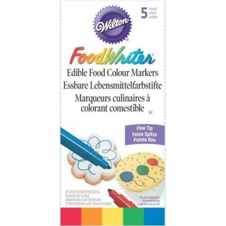 5 feutres alimentaires couleurs primaires