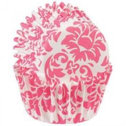 """100 mini caissettes """"Baroque rose"""""""